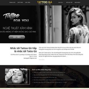 website Tiệm xăm hình – Tattoo