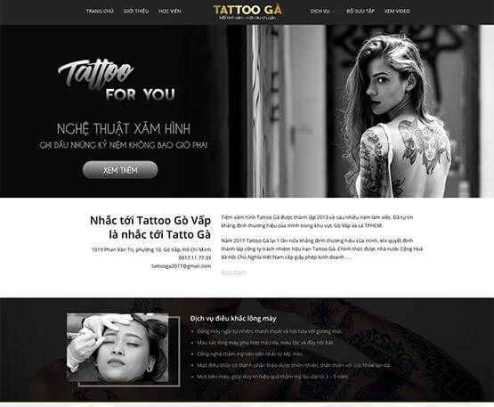 website Tiệm xăm hình – Tattoo