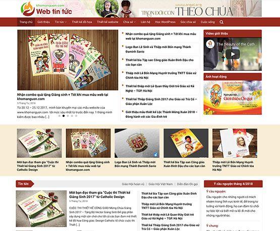 Website tin tức online - Mẫu 02