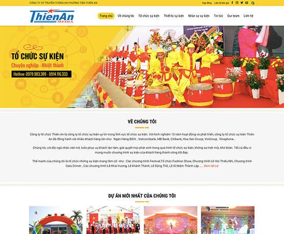 website Tổ chức sự kiện