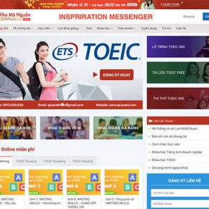 website Trung tâm anh ngữ