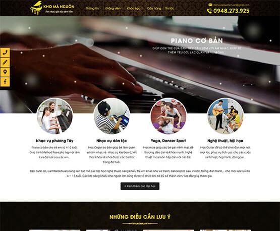 website Trung tâm năng khiếu Piano