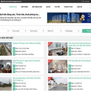 Website sàn thương mại mua bán bất động sản
