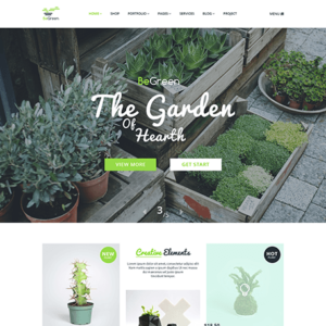 BeGreen - Multi-Purpose WordPress Theme for Planter - Landscaping- Gardening