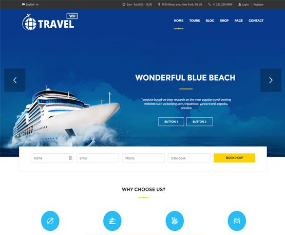 TravelWP - Travel Tour Booking WordPress Theme