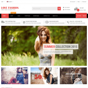 Love Fashion - Responsive Multipurpose WordPress Theme