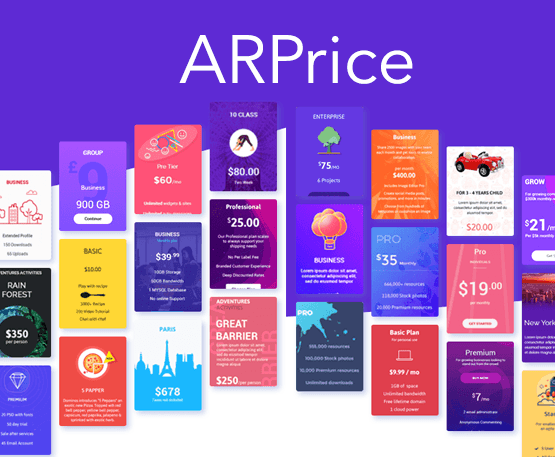 ARPrice - WordPress Pricing Table Plugin