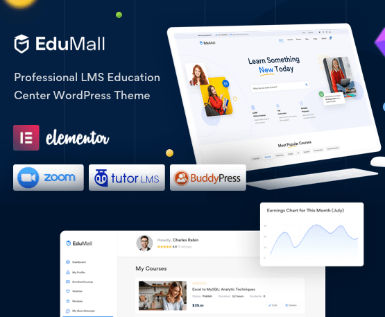 EduMall - Professional LMS Education Center WordPress Theme