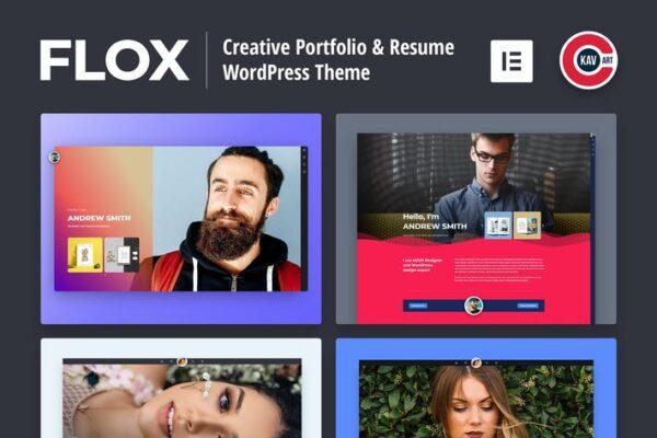 FLOX - Personal Portfolio & Resume WordPress Theme 1