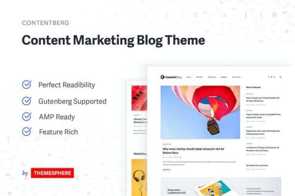 Contentberg Blog - Content Marketing Blog Theme 1