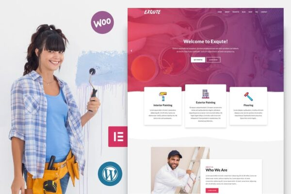 Exqute - Painting Company WordPress Theme 1