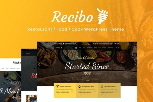 Recibo - Restaurant / Food / Cook WordPress Theme 1