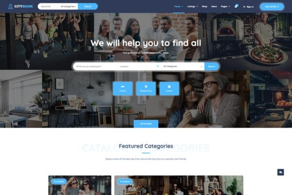 CityBook - Directory & Listing WordPress Theme 1