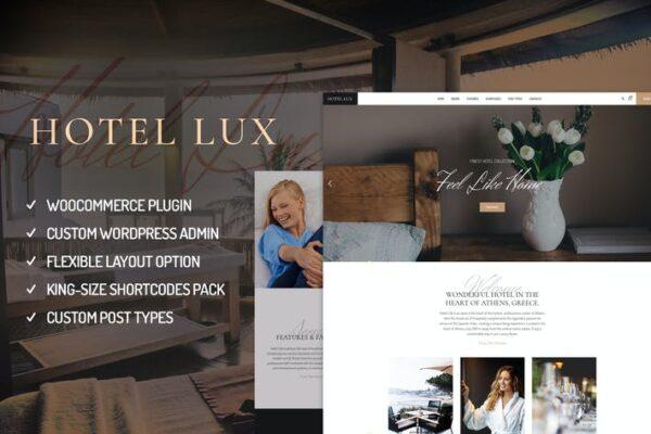 Hotel Lux - Resort & Hotel WordPress Theme 1