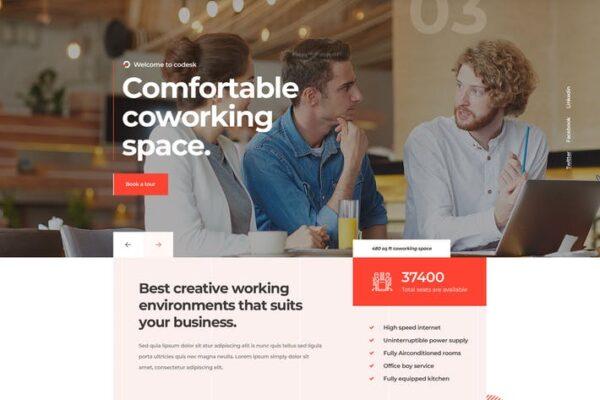 Codesk - Creative Office Space WordPress Theme 1