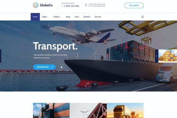 GlobeCo - Transportation & Logistics WordPress The 1