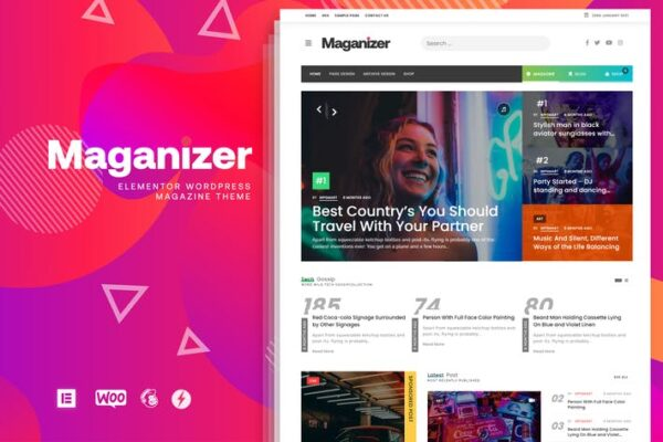 Maganizer - Modern Magazine WordPress Theme 1