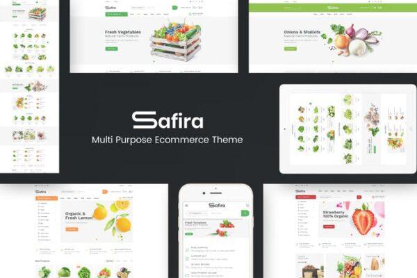 Safira - Food & Organic WordPress Theme 1