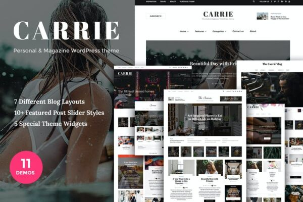 Carrie - Personal & Magazine WordPress theme 1