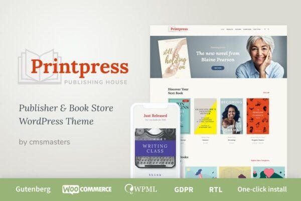 Printpress - Book Publishing WordPress Theme 1