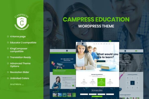 Campress - Education, Courses WordPress Theme 1