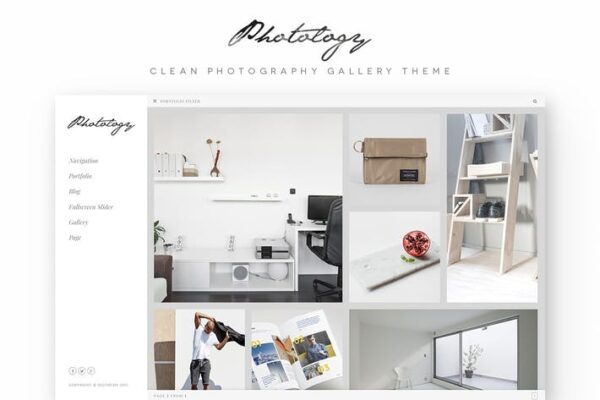 Photology - Clean Photography Gallery WP Theme 1