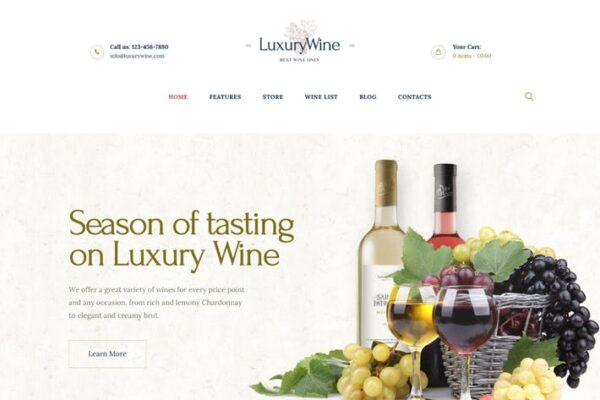 Luxury Wine - Liquor Store & Vineyard WP Theme 1