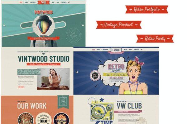 VintWood - Vintage, Retro WordPress Theme 1