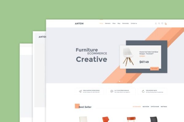 Anton - Furniture WooCommerce WordPress Theme 1