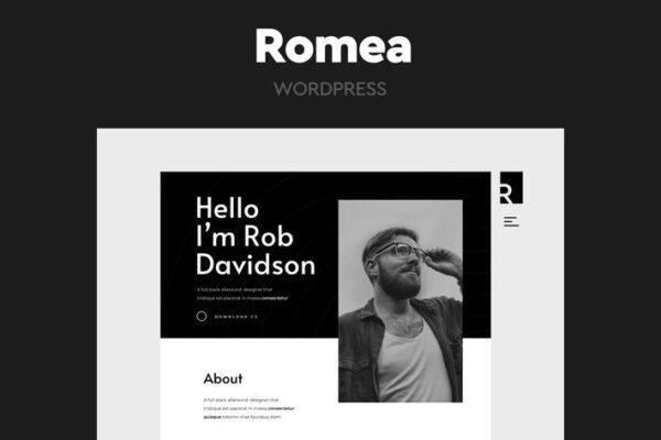 Romea - Personal Portfolio WordPress Theme 1