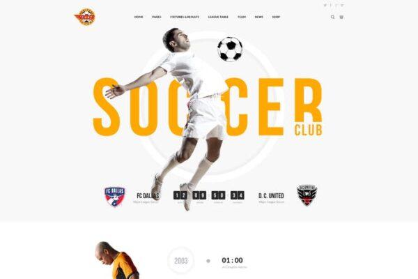 Soccer Club - Football Team WordPress Theme 1