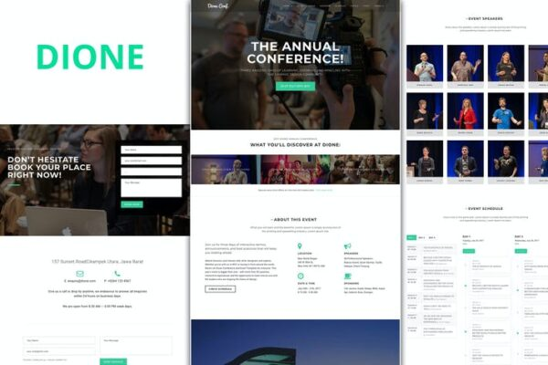 Dione – Conference & Event WordPress Theme 1