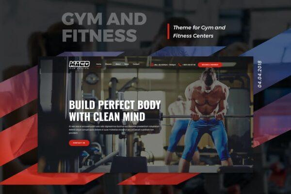Maco - Gym and Fitness WordPress Theme 1