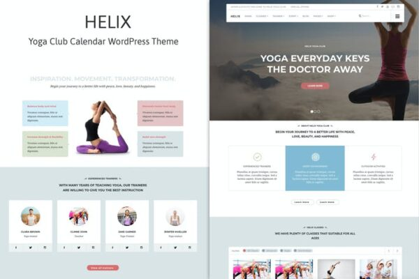 Helix - Yoga Club Calendar WordPress Theme 1