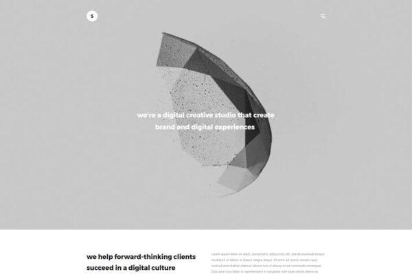 Sima - Minimal Portfolio WordPress Theme 1