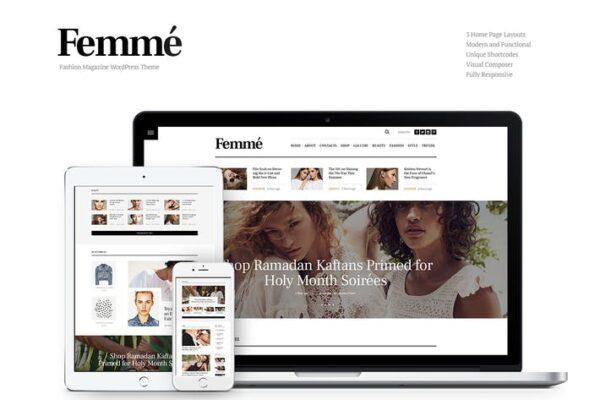 Femme - Online Magazine & Fashion Blog WP Theme 1