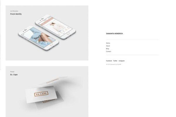 Samanta - Minimal Portfolio WordPress Theme 1