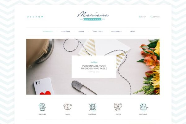 Melania - Handmade Blog & Shop WordPress Theme 1