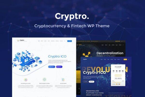 Cryptro- Cryptocurrency, Blockchain, Bitcoin Theme 1