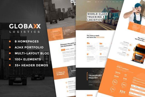 Globax - Logistics WordPress Theme + Woocommerce 1