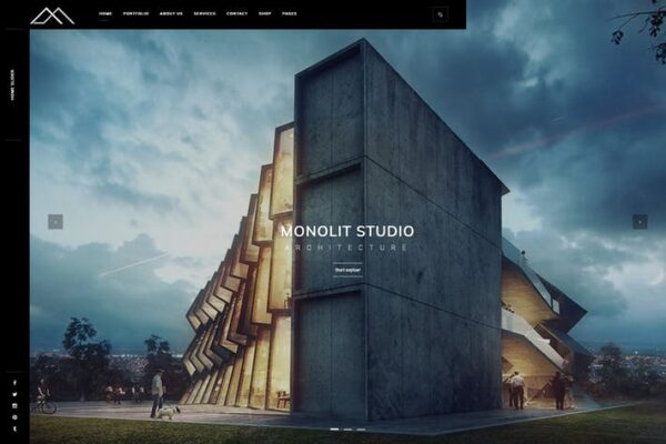 Monolit – Responsive Architecture WordPress Theme 1