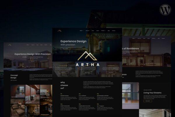Artha Interactive Interior WordPress Theme 1