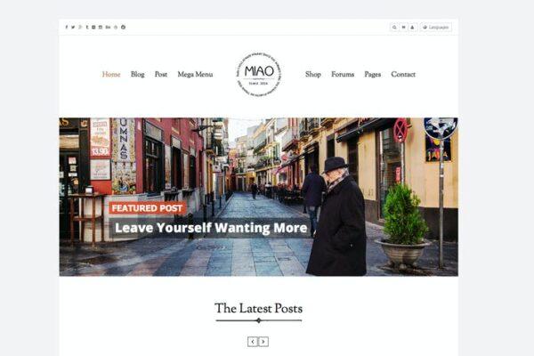 Miao - Clean Blog & Shop WordPress Theme 1