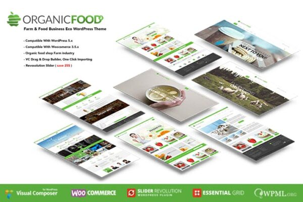Organic Food - Farm & Food Business Eco WordPress 1