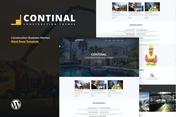 Continal - Construction & Business WordPress Theme 1