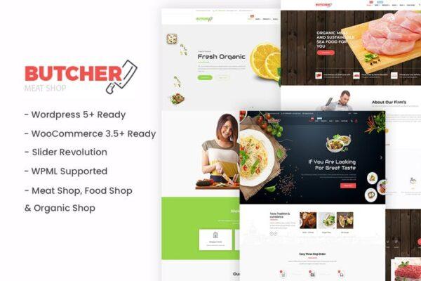 Butcher - Meat, Organic, Bakery WordPress Theme 1