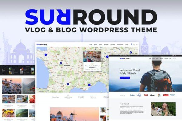 Surround Vlog & Blog WordPress Theme 1