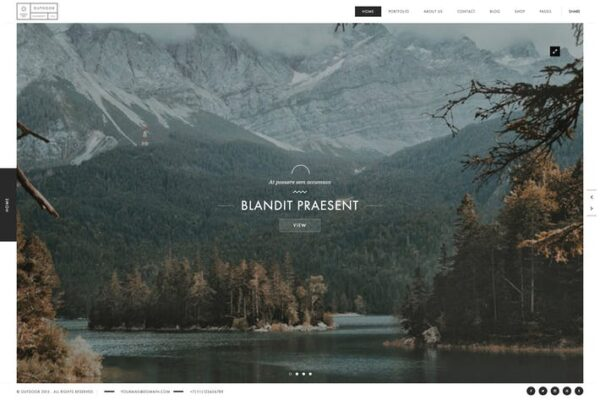 Outdoor - Creative Photography / Portfolio Theme 1