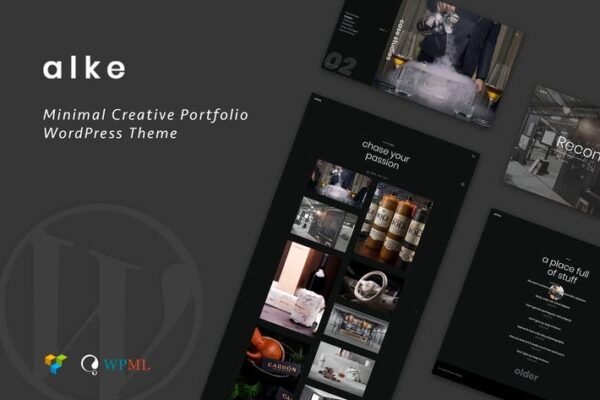 Alke - Minimal Creative Portfolio WordPress Theme 1
