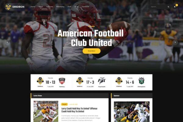 Gridiron - American Football & NFL Team WordPress 1